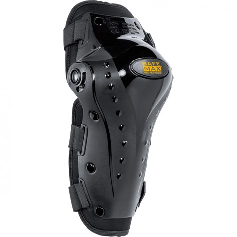 Safe Max | Hard Shell Cross Knee Protector Type B Black