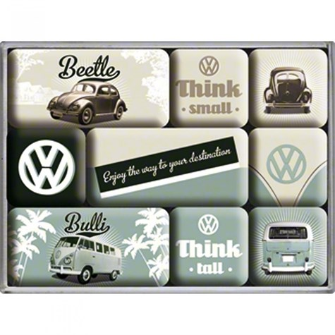 "Nostalgic Art | Magnet-Set ""VW Think Tall & Small"""