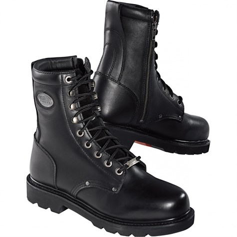 Spirit Motors | Classic Engineer-Zip Boot Black