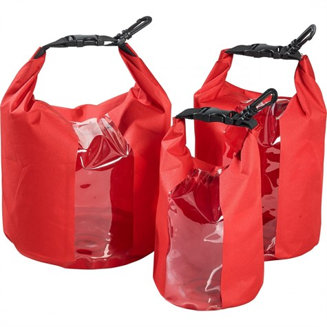 Qbag | Set of 3 Inside Pockets/Roll Bags 15 Liters Red
