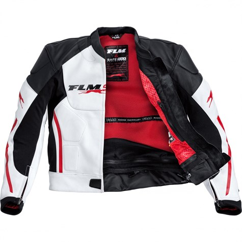 FLM | Sports Leather Combi Jacket 1.0 White/Red