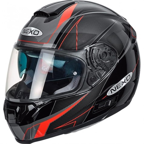 Nexo | Full-Face Helmet Comfort Red Decor