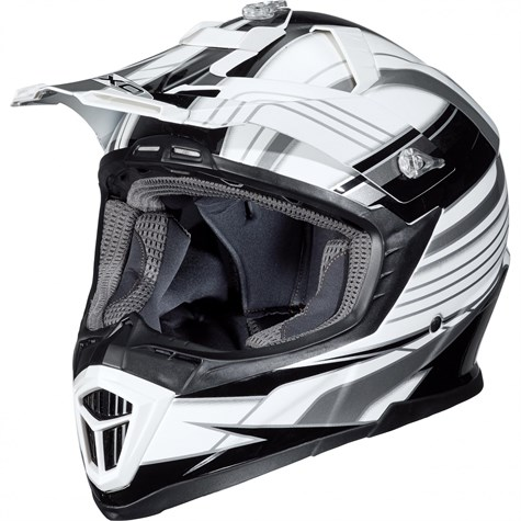 Nexo | MX-Line Fibre Glass Cross Helmet Black/White