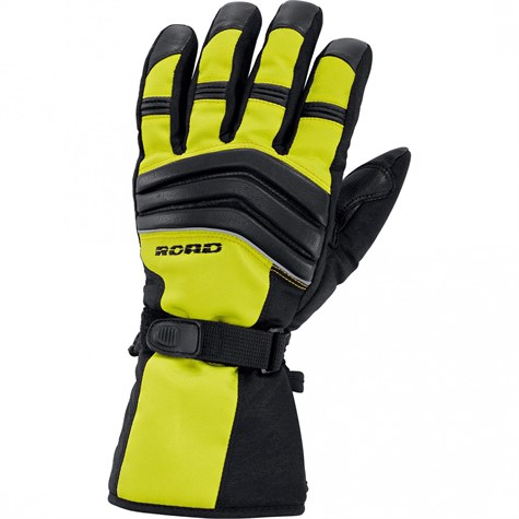 Road | Touring Leather/Textile Glove 2.0 Neon Yellow